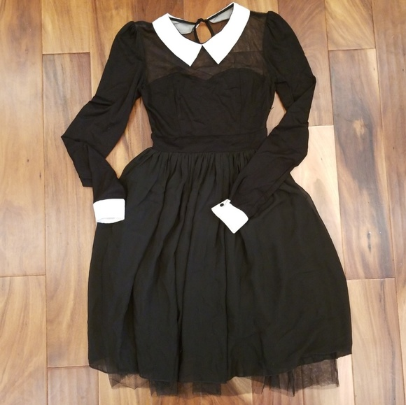 unbranded Dresses | Wednesday Addams Dress Sz 4 Small Black Costume ...